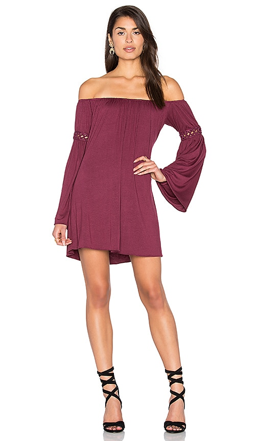 sky Iestyn Dress in Wine