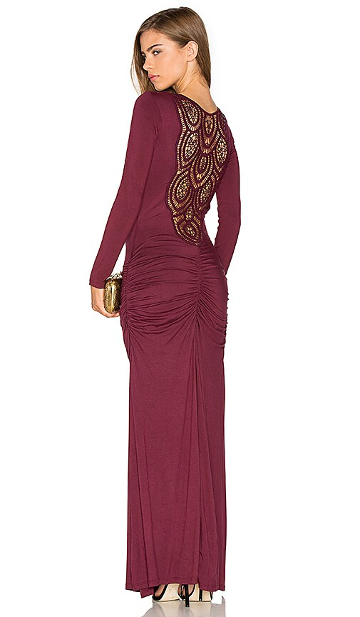 sky Tamotsu Dress in Burgundy
