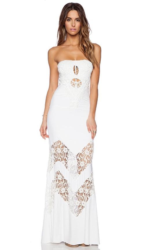 sky Neena Maxi Dress in White
