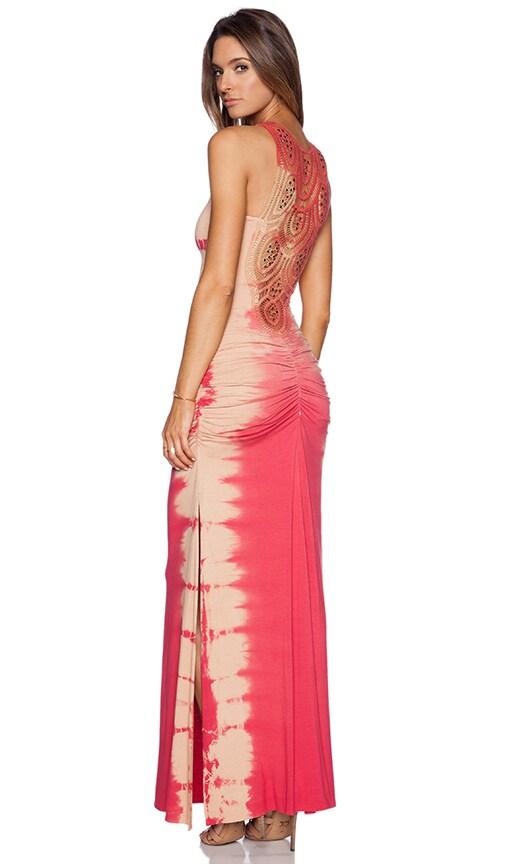 sky Tanghia Dress in Coral