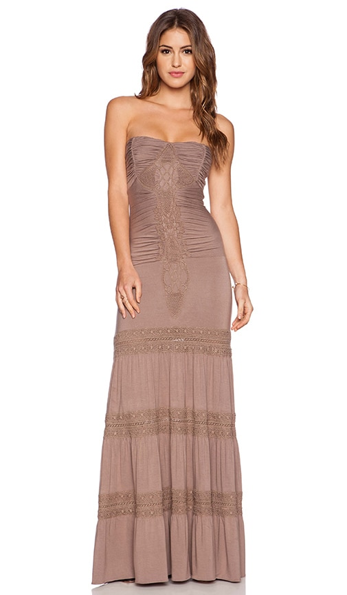 sky Phil Dress in Taupe