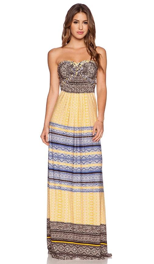 sky Phillipa Dress in Yellow