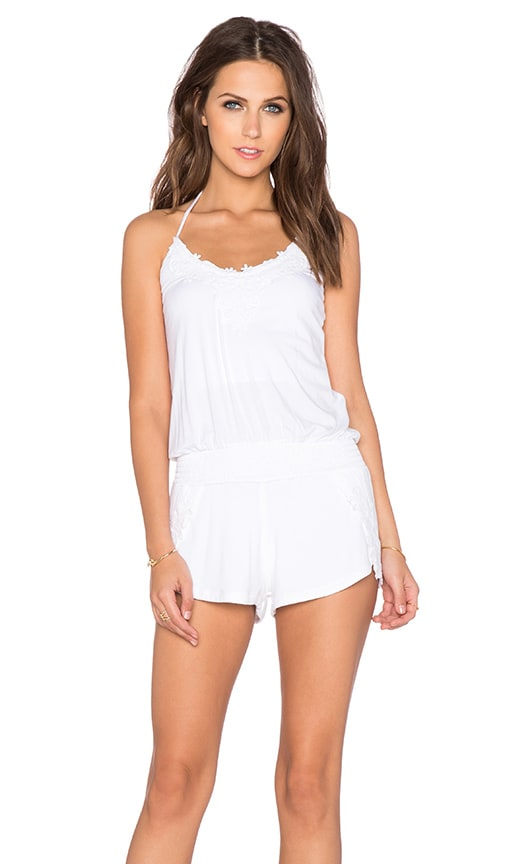 sky Tefrout Romper in White