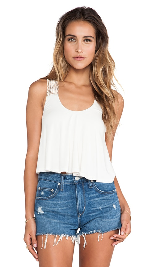 Ardith Cropped Crochet Tank