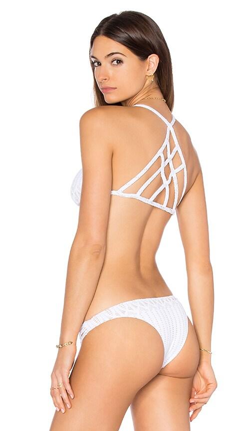 sky Damarie Bikini Top in White