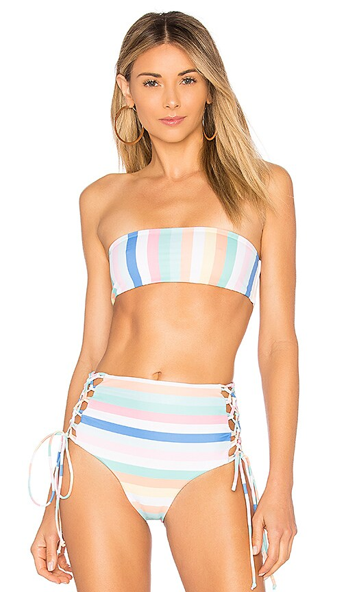 Skye & Staghorn High Waisted Stripe Zip Up Bikini Bottom - Confetti Skye & Staghorn Pre Order For Sale Free Shipping Brand New Unisex Shop For Online Pay With Visa For Sale hVvDZJWU