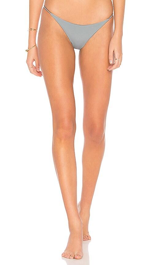 SKYE & STAGHORN String Bikini Bottom in Gray