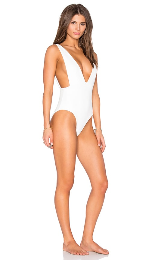SKYE & staghorn Plunge Swimsuit in Montego