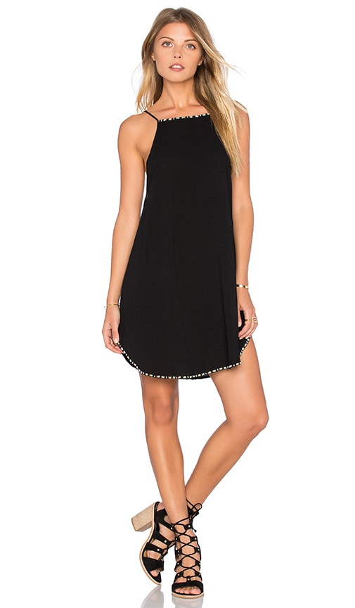 SKYE & staghorn Tutsi Beaded Tank Dress in Black
