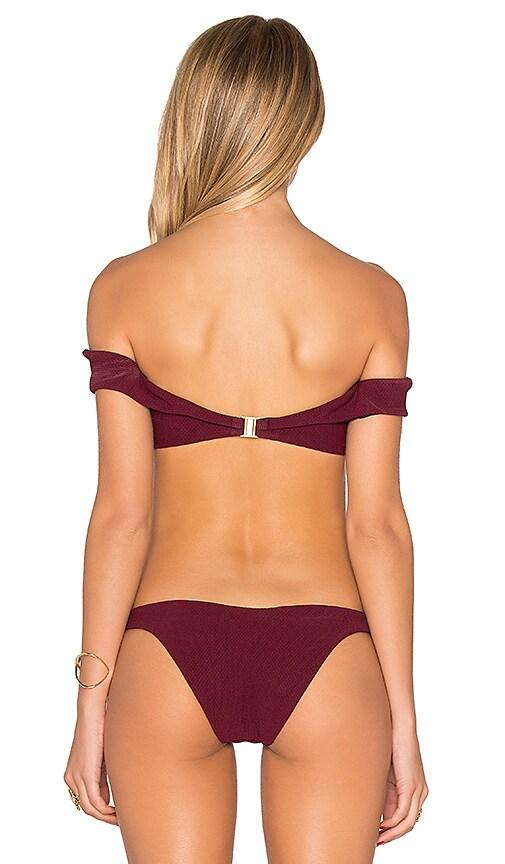 30d442be3e SKYE   staghorn Shoulder Wrap Bikini Top in Beet Red chic - www ...