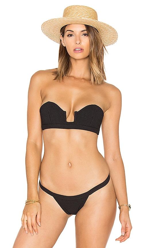 SKYE & staghorn Strapless Bikini Top in Black