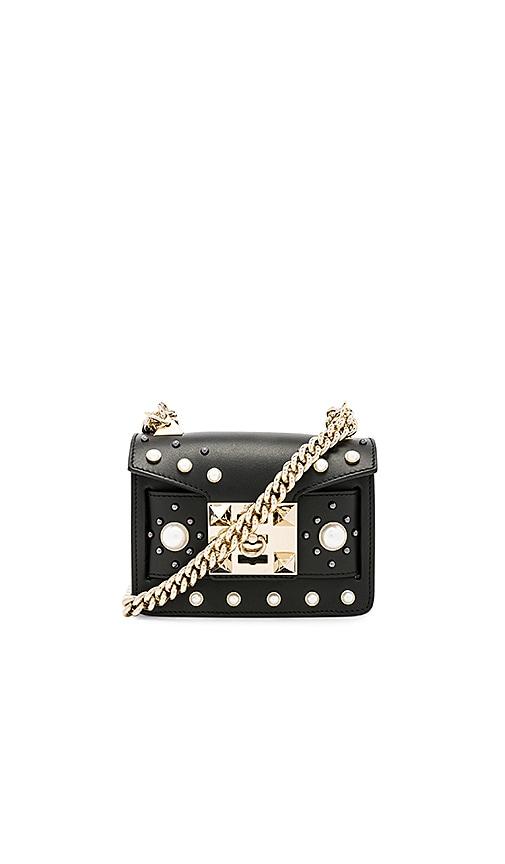 SALAR Gaia Pearl Mini Bag in Black
