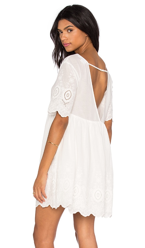 Somedays Lovin Daisy Eyes Dress in White
