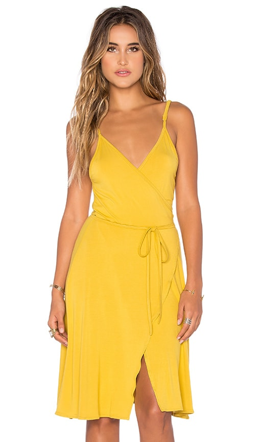 Somedays Lovin Blissful Wrap Dress in Yellow