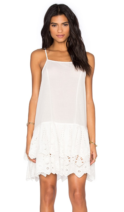 Somedays Lovin Serenade Lace Ra Ra Dress in White
