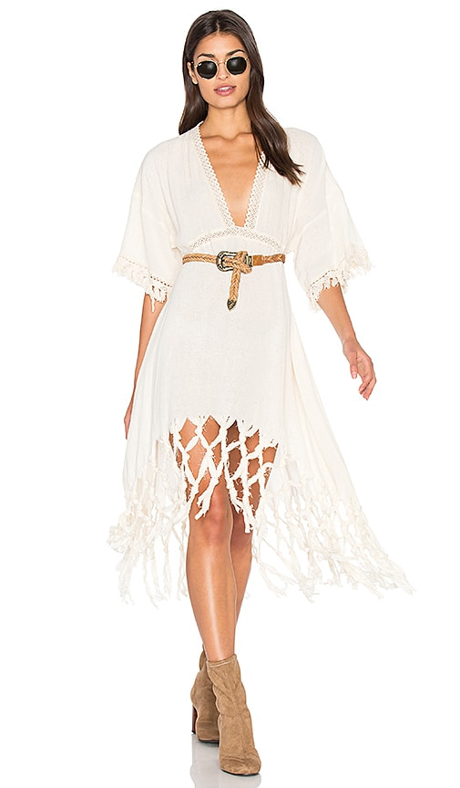 Somedays Lovin Sweet Talking Kimono Dress in Cream