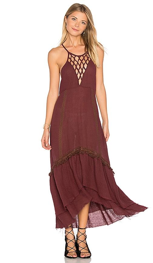 Somedays Lovin Sweet Talking Dress in Wine