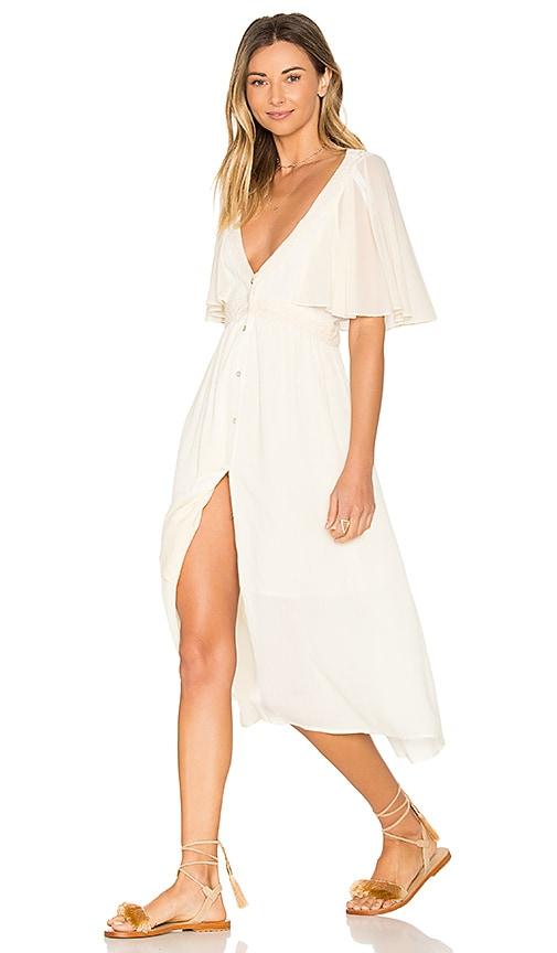 Somedays Lovin Eldora Midi Dress in White