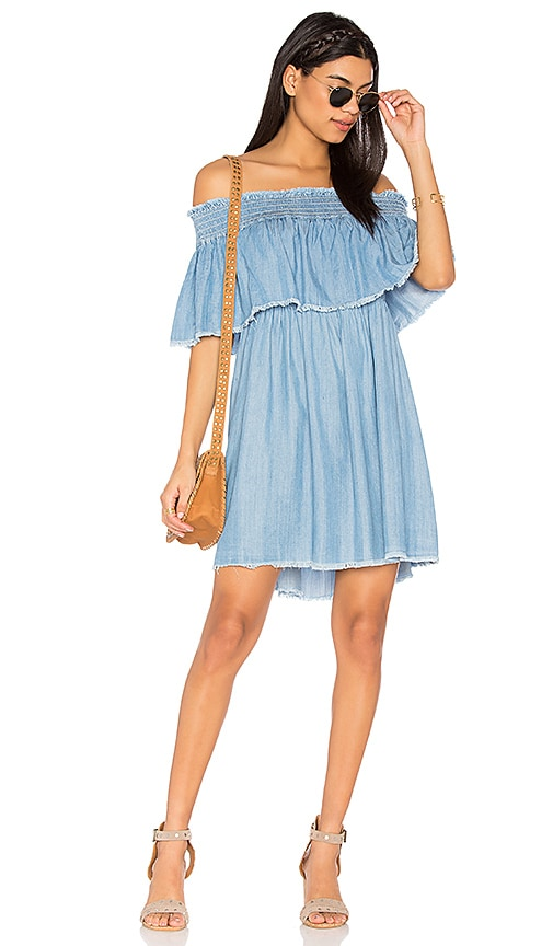 Somedays Lovin Serene Skies Chambray Dress in Blue