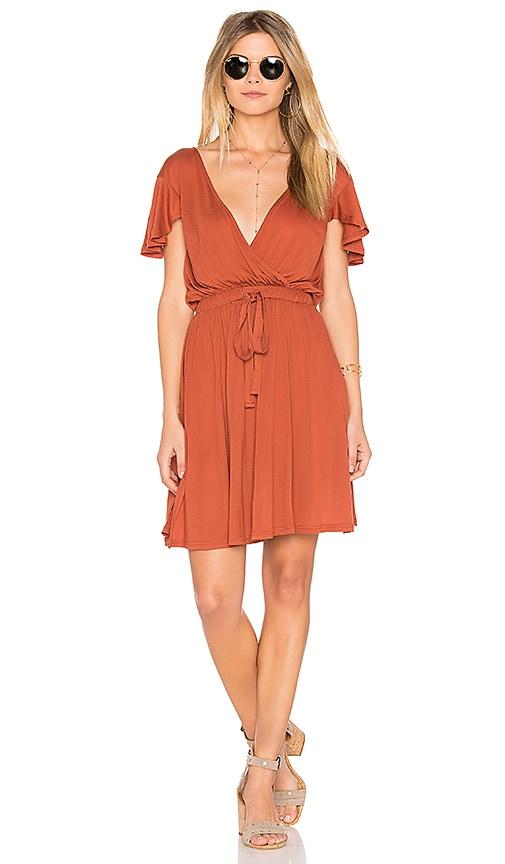 Somedays Lovin Fall for Freedom Dress in Rust