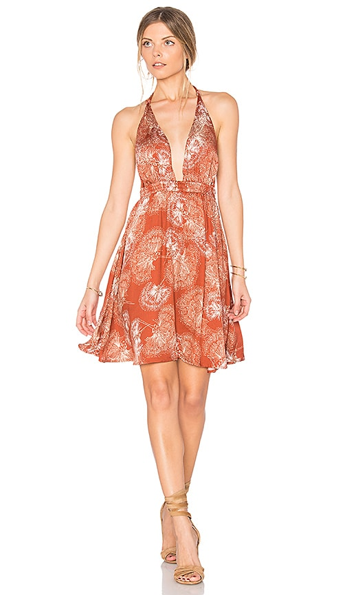 Somedays Lovin Tigress Mini Dress in Rust