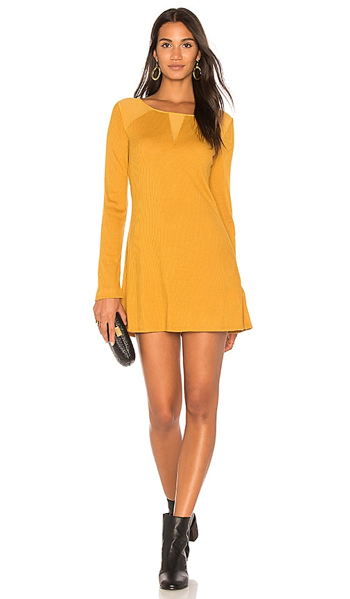Somedays Lovin Ultimates Ribbed Tunic in Mustard