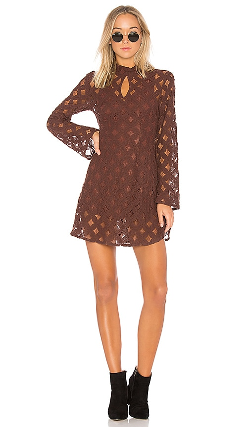 Somedays Lovin Crimson Hearts Lace Dress in Burgundy