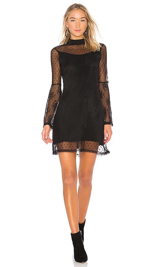 Somedays Lovin Starry Eyed Mesh Mini Dress in Black