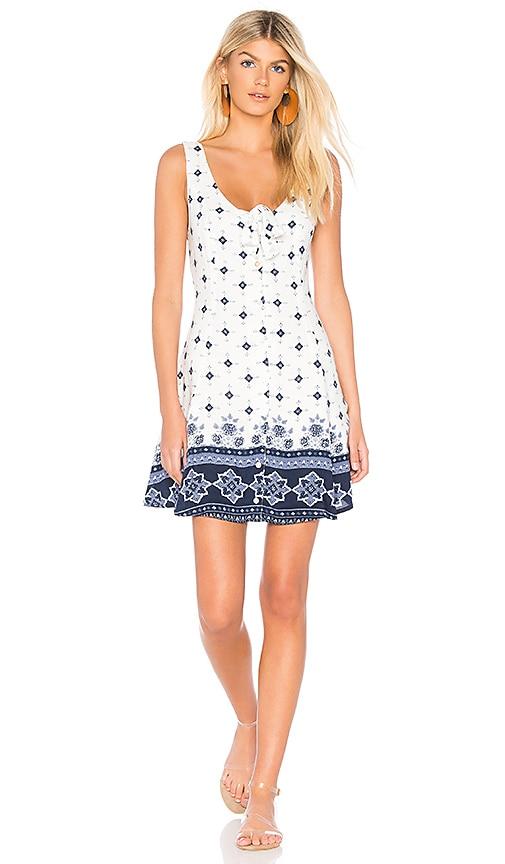 Somedays Lovin Morning Tides Mini Dress in White