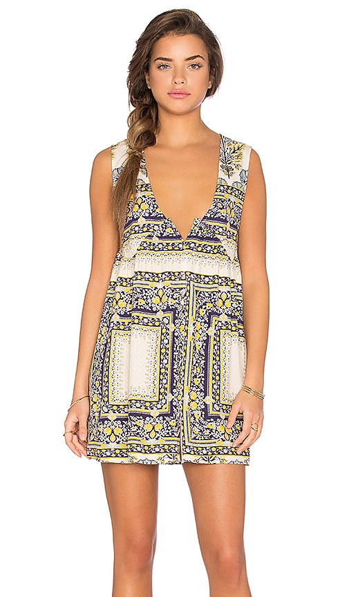 Somedays Lovin Calippo Scarf Print Dress in Yellow