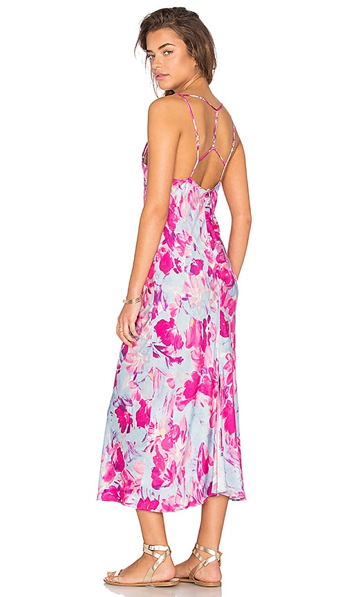 Somedays Lovin Pintura Floral Maxi Dress in Pink