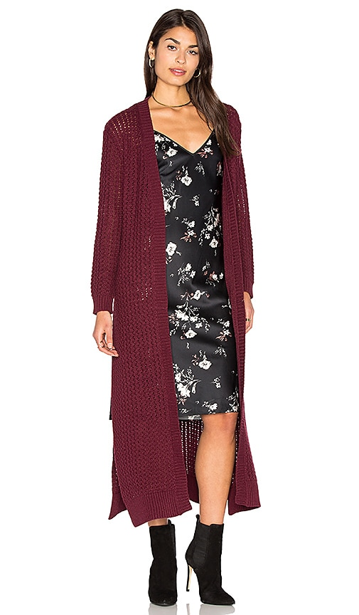 Somedays Lovin Daria Knit Cardigan in Wine