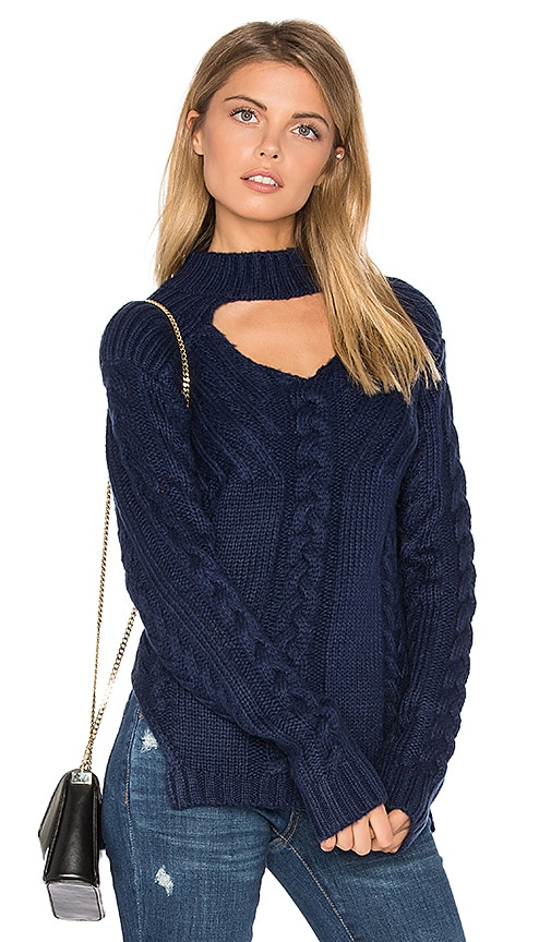 Somedays Lovin Texan Cable Knit Sweater in Blue
