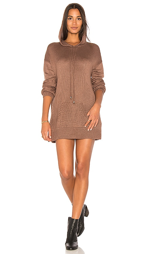 Somedays Lovin Moonlight Drive Hooded Dress in Brown