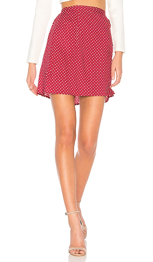 Somedays Lovin Fearless Wrap Skirt in Red