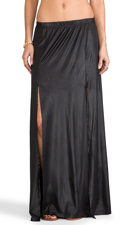 Salt Double Split Maxi Skirt