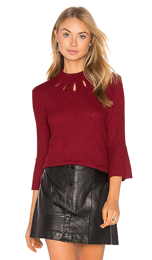Somedays Lovin West Virgina Sweater in Burgundy