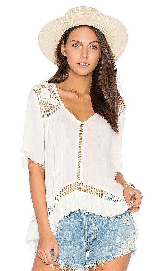 Somedays Lovin Sun Sway Crochet Blouse in White