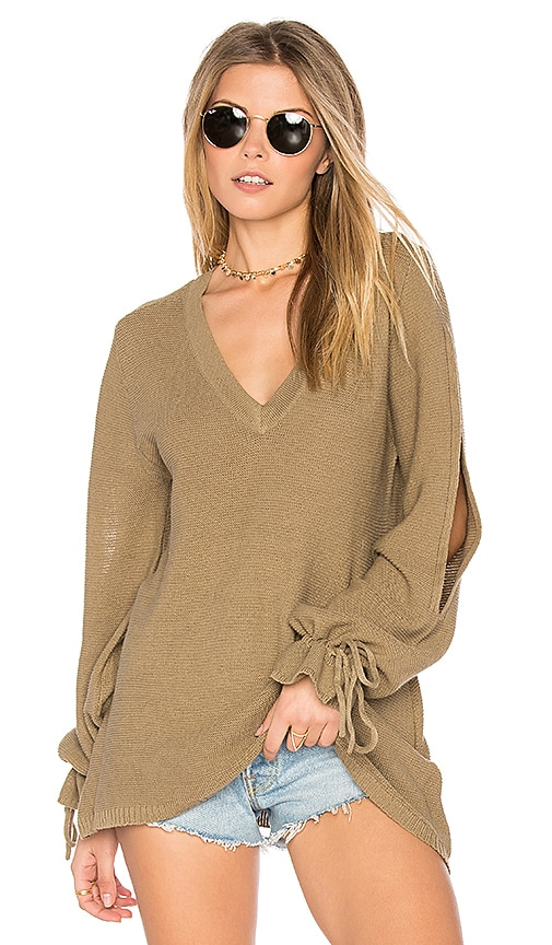 Somedays Lovin Gypsum Knit Sweater Top in Green