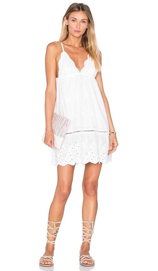 Somedays Lovin Song Bird Anglaise Dress in White