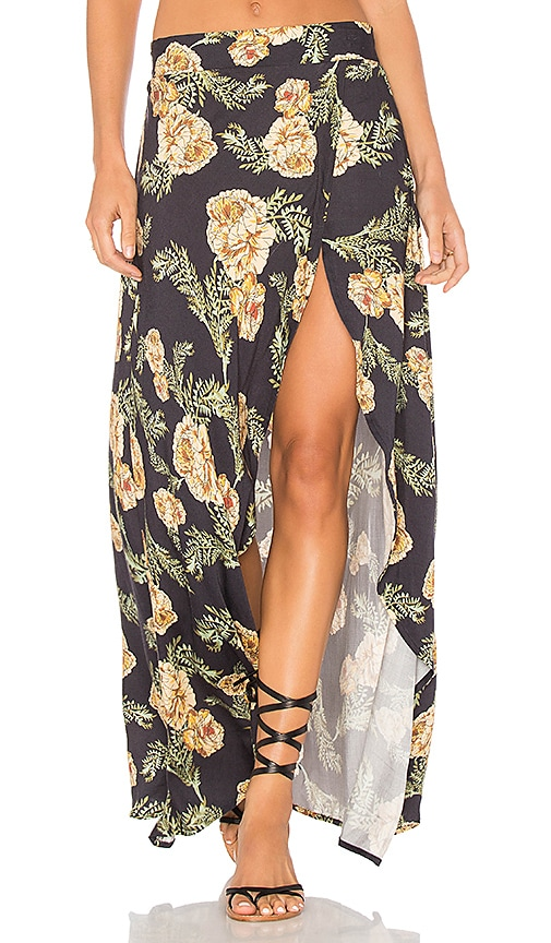 Somedays Lovin River Running Maxi Skirt in Black