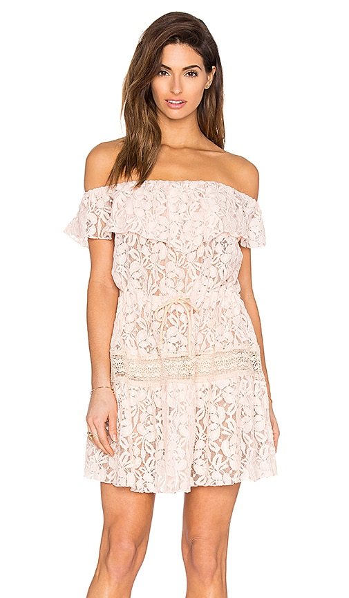 Somedays Lovin Verona Lace Maxi Dress in Blush