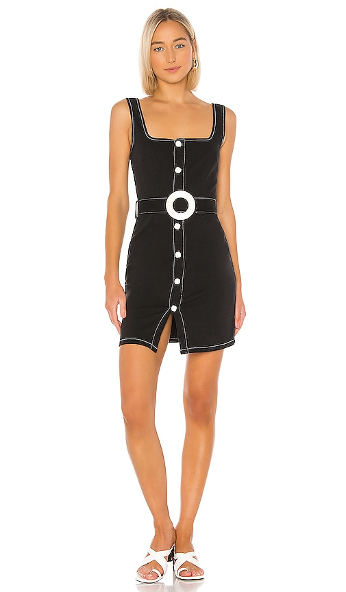 Button Up Belt Dress