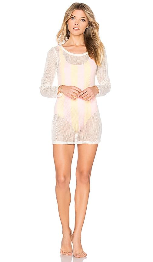 Solid & Striped The Mesh Birkin Dress in White
