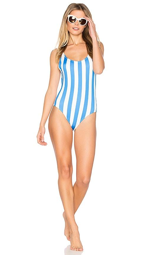 c16f61ce19 Solid   Striped The Anne Marie One Piece in Sea Stripe