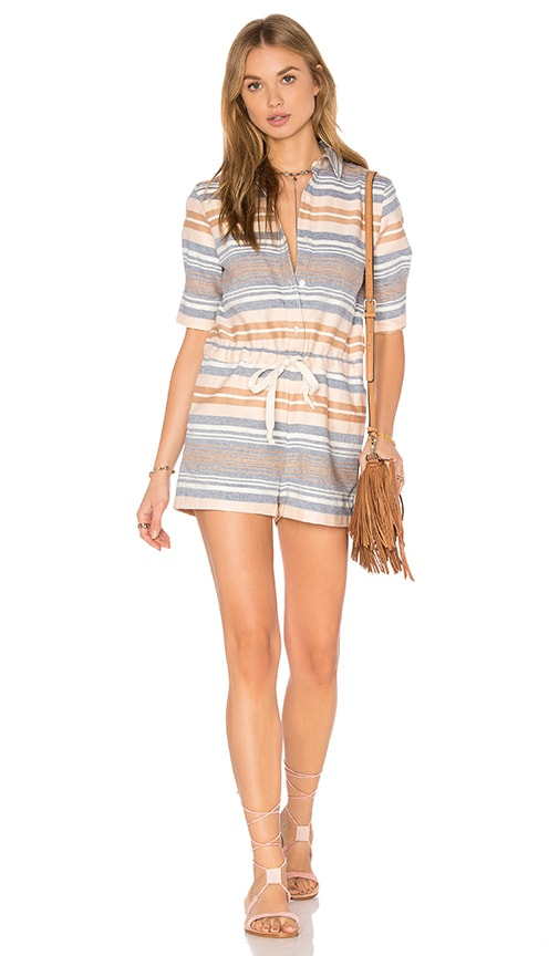 Solid & Striped The Romper in Beige