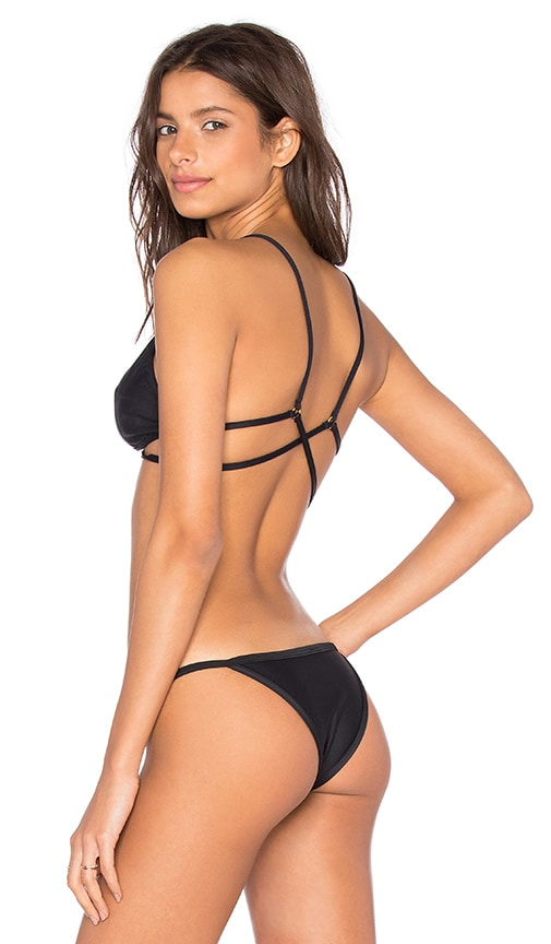 Salt Swimwear Stacia Bikini Top in Black
