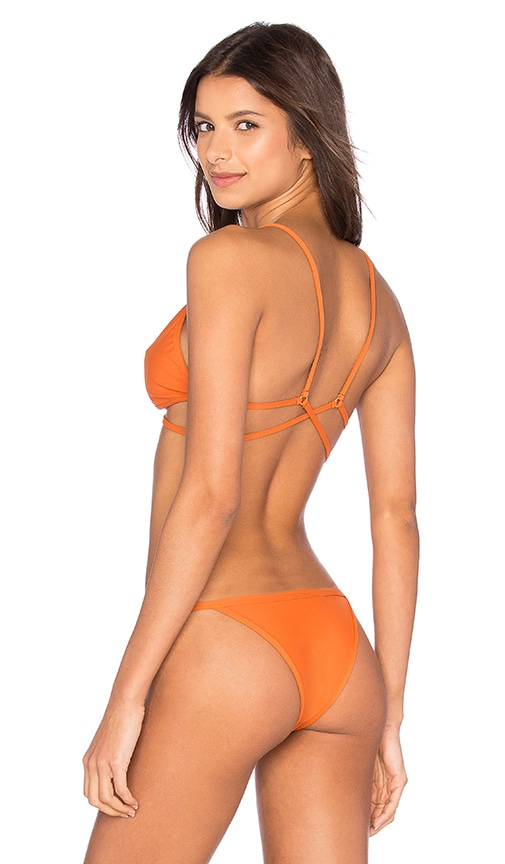 Salt Swimwear Stacia Bikini Top in Orange