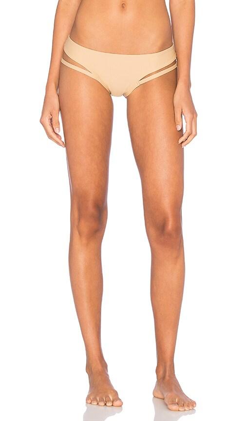 Salt Swimwear Syd Bikini Bottom in Tan