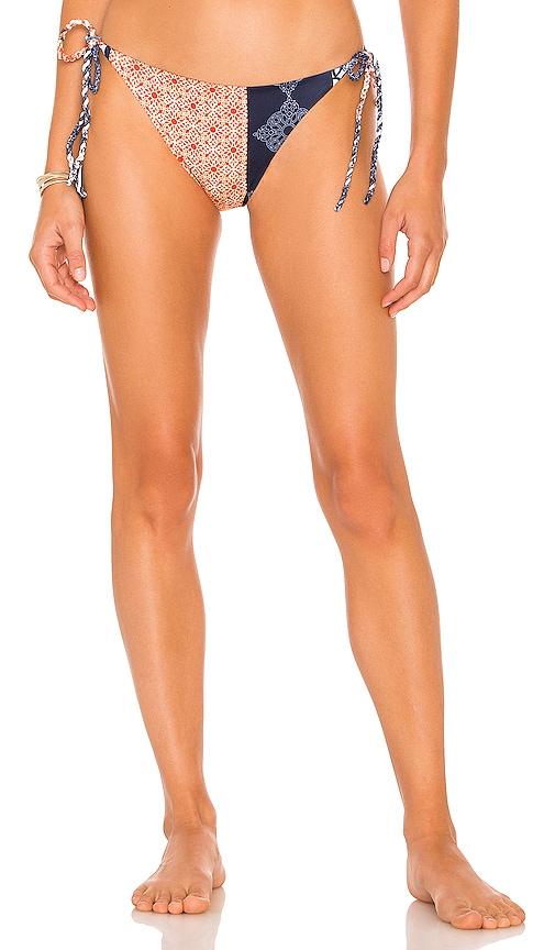 SILVIA TCHERASSI Maddaloni Bikini Bottom in Royal Blue Scarf   REVOLVE